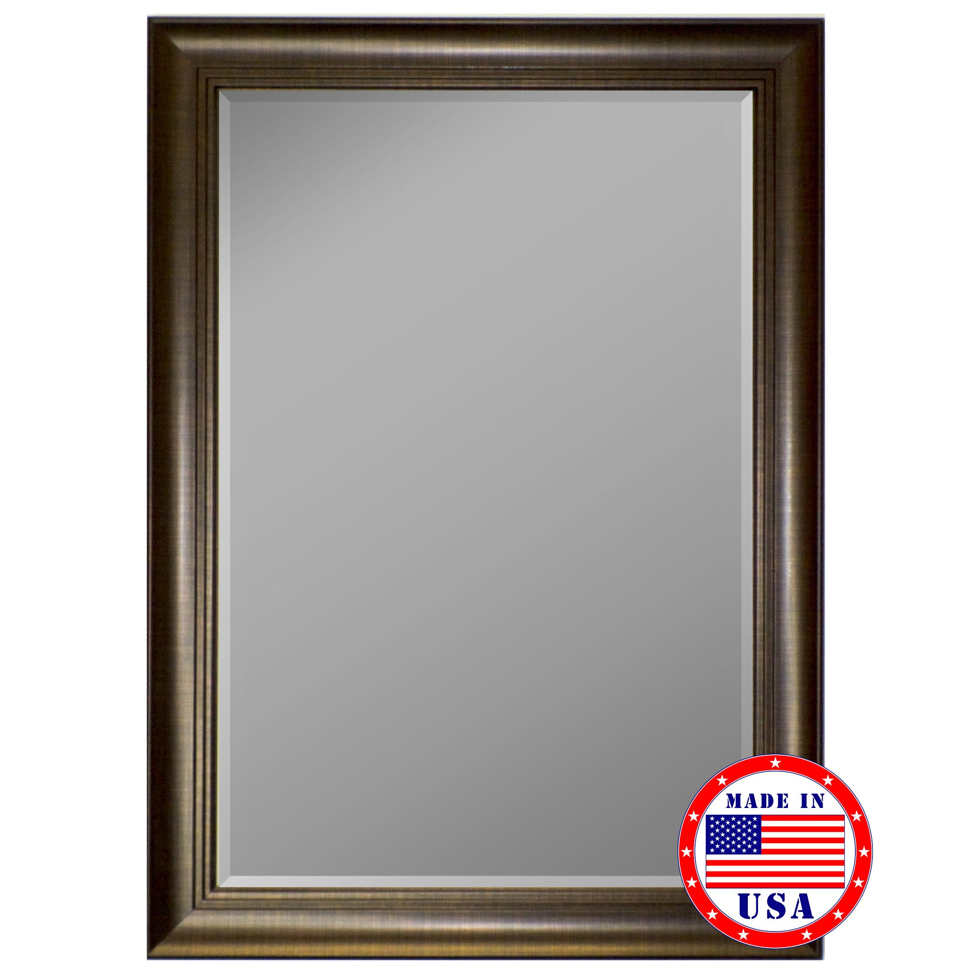 Framed Wall Mirrors 3 step scratch copper framed wall mirror – mirrorsmart