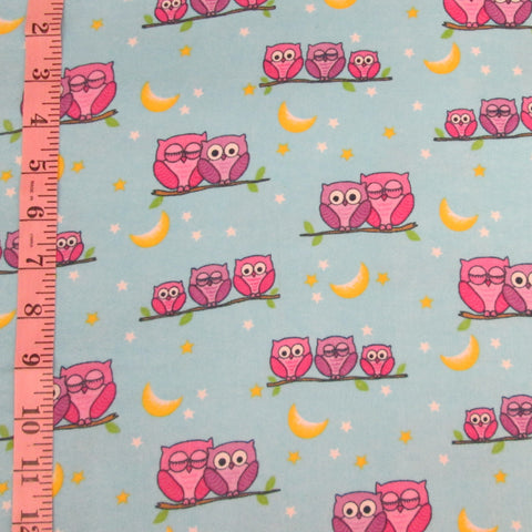 Comfy Flannel, Owls (6147)