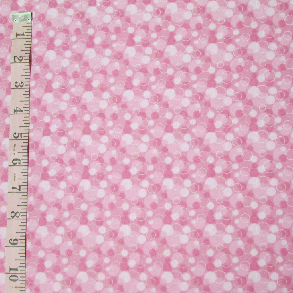Comfy Flannel, Pink Bubbles (6148)