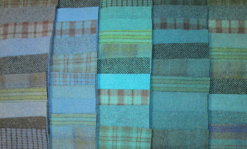 Various Colors of Blue Wool
