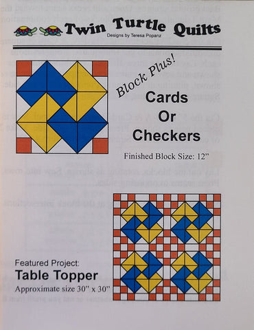 Block Plus, Cards or Checkers