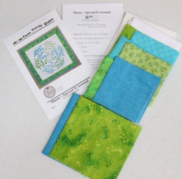 Lime Aqua Kit Center only or with Border
