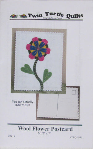 Wool Flower Postcard