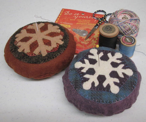 wool Snowflake Pincushion pattern or kit