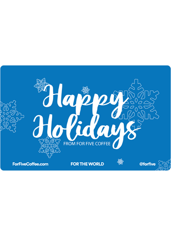 'Happy Holidays' Snowflake For Five Gift Card