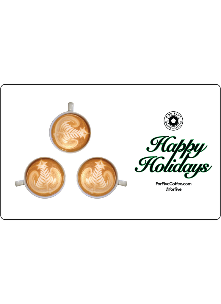 'Happy Holidays' Latte Art For Five Gift Card