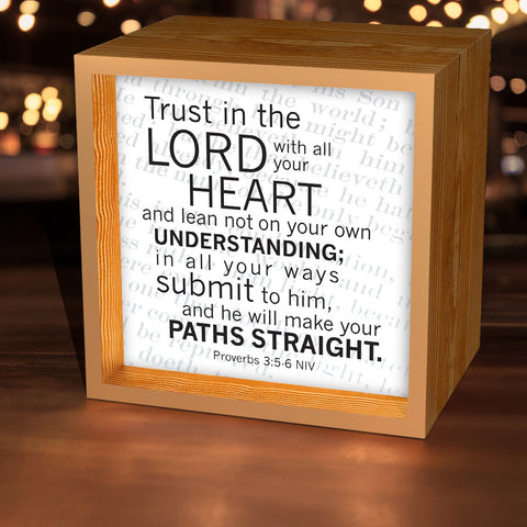 """Trust In The Lord"" Lightbox"