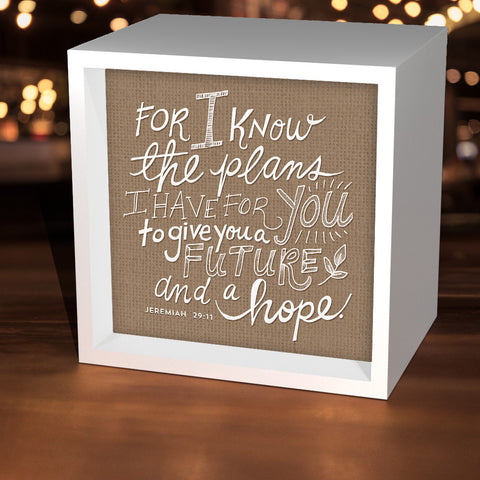 """For I Know The Plans I Have For You"" Lightbox"