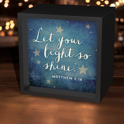 """Let Your Light So Shine"" Lightbox"