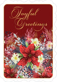 Christmas Pointsettia - mixed card box set with scripture