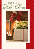 Bible & Pointsettia - mixed card box set with scripture