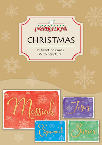 messiah mixed card box set with scripture - Christmas Card Scripture