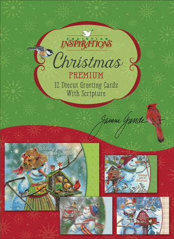 Snowmen Friends - mixed card box set with scripture