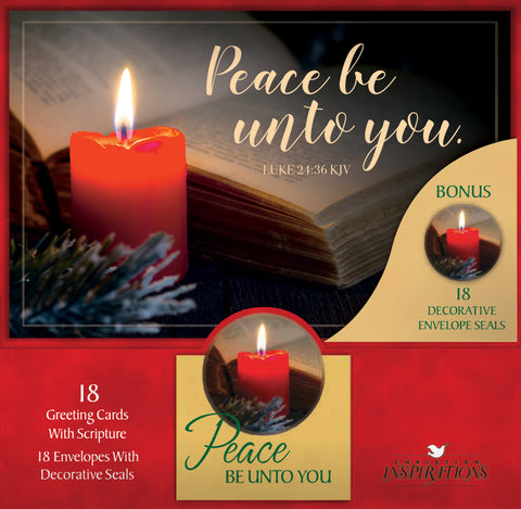 Peace be unto you - card box set with scripture