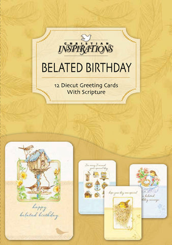 Oiseau (belated birthday)- card box set with scripture