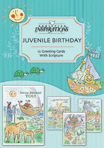 Noah's Ark (Juvenille Birthday) boxed card set with scripture