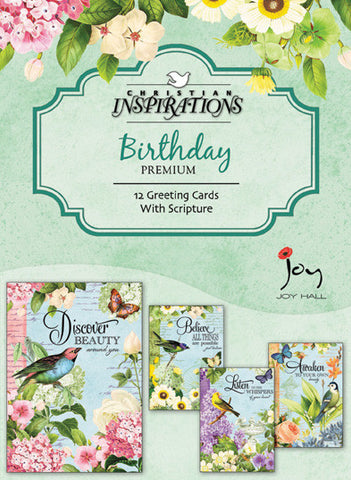 Garden Motif boxed card set with scripture