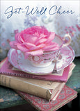 Teacup Wishes - Get Well - box card set with scripture