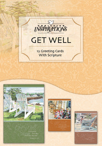 A Cheerful Touch get well boxed card set with scripture