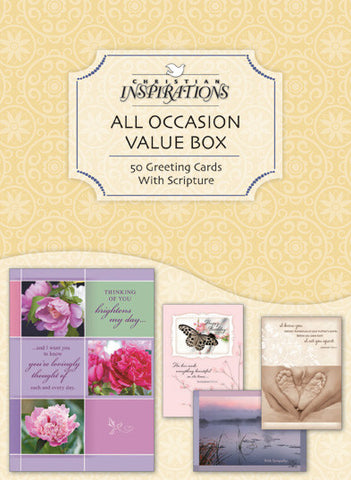 All Occasion Value 50 count boxed card set with scripture