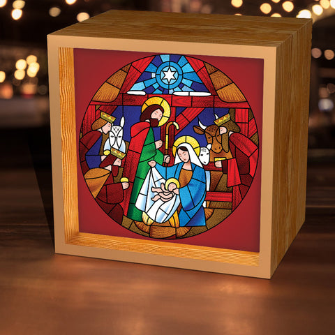 Stained Glass Nativity Lightbox