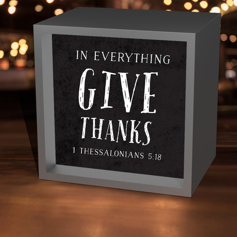 """Give Thanks"" Lightbox"