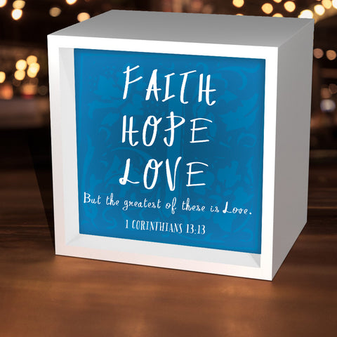 """Faith Hope Love"" Lightbox"