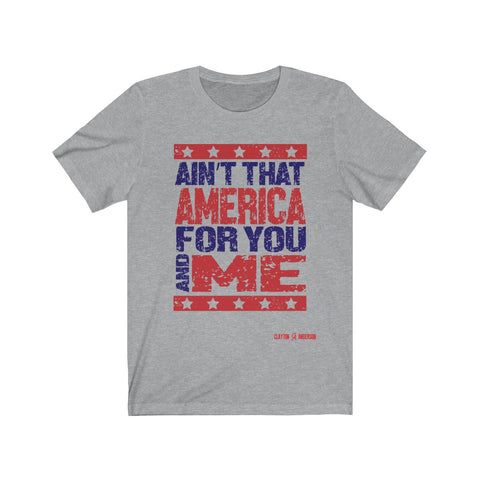 Ain't That America Pink Houses Lyric Unisex Jersey Short Sleeve Tee