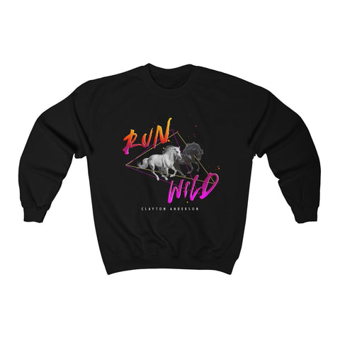 Run Wild Logo Unisex Heavy Blend™ Crewneck Sweatshirt