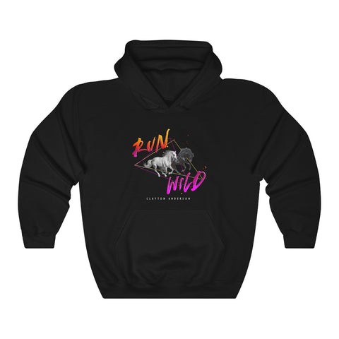 Run Wild Logo Unisex Heavy Blend™ Hooded Sweatshirt