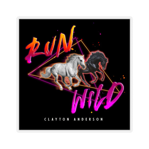 Run Wild Logo Kiss-Cut Stickers