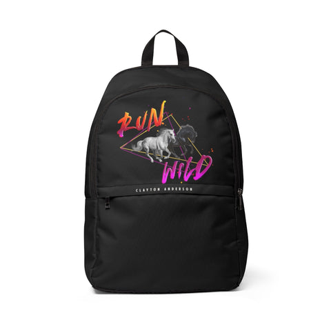 Run Wild Logo Unisex Fabric Backpack