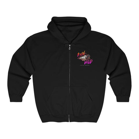 Run Wild Logo Unisex Heavy Blend™ Full Zip Hooded Sweatshirt