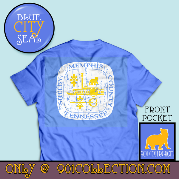 Pocketed City Seal Blue