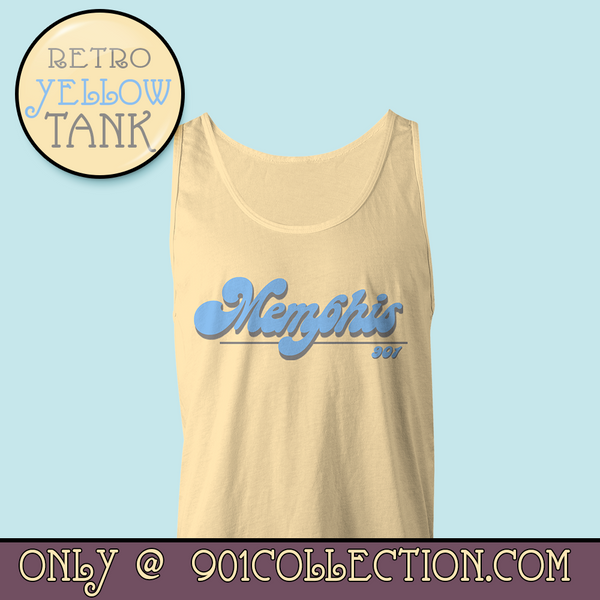 Retro Memphis Yellow Tank Top