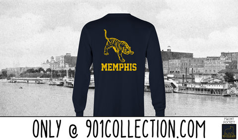 Pocketed Tiger True Navy Long Sleeve