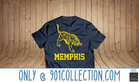 Pocketed Tiger True Navy Short Sleeve