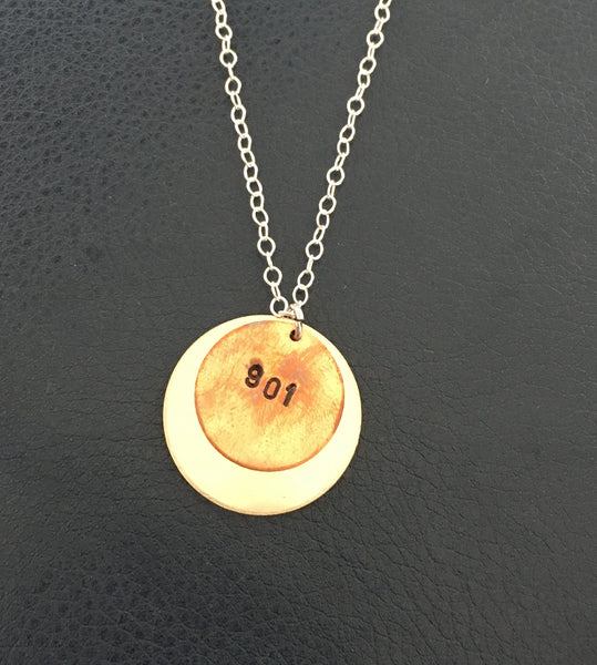 Copper 901 Circle on Silver