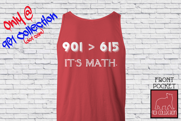 Pocketed Math Tank Crimson