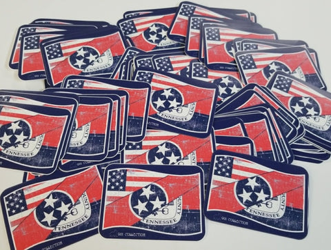Three Flags Over Memphis Sticker