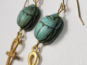 New Jewelry Inspired by Egypt using Vintage Scarabs - Available on Etsy