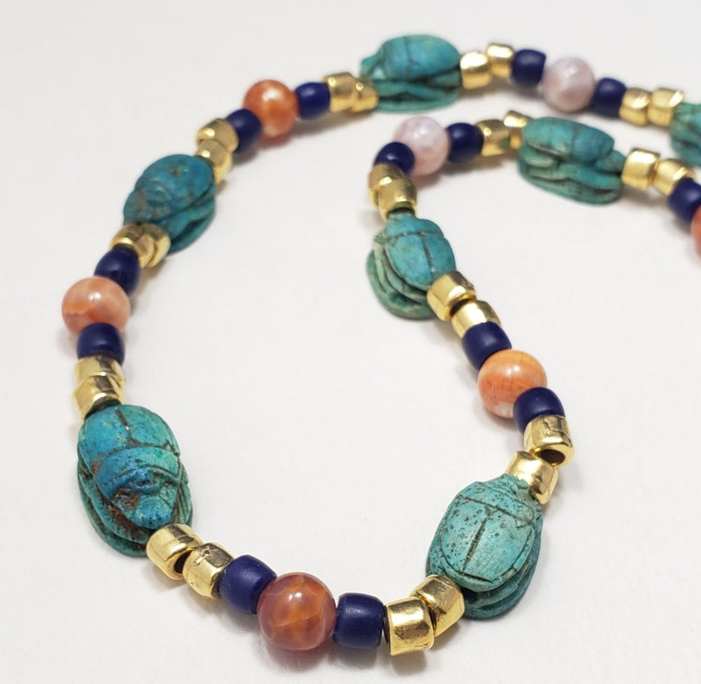 Scarab Necklace Jewelry