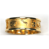Cartouche Ring (Gold and Silver)