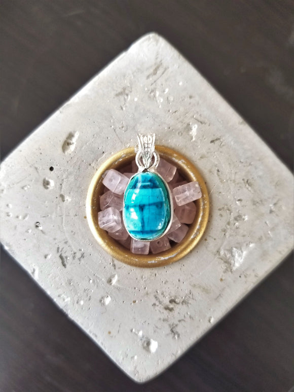 Hand Carved Scarab Pendant