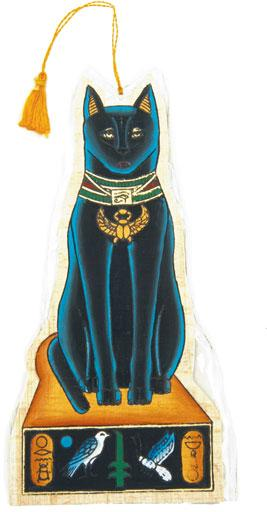2-sided Bastet Cat Papyrus Bookmark  - 7