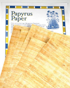 Blank Papyrus Set of 6 - 8 x 10""