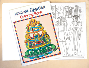 Ancient Egyptian Coloring Book - 16 pages - 8 x 11""