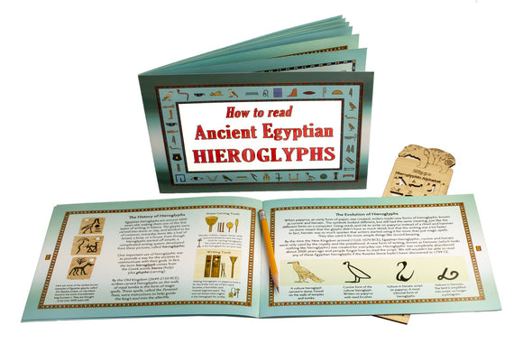 How to Read Hieroglyphics Booklet - 18 pages - 7 x 9