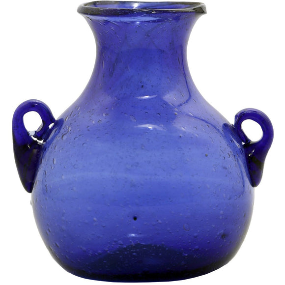 Glass Cobalt Blue Vase - 4