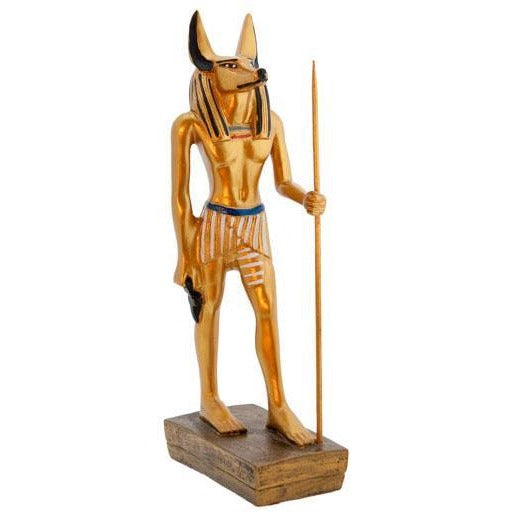 Vibrant Golden Anubis w/Staff